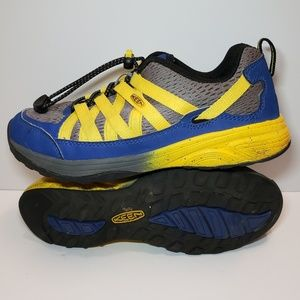Keen Youth Hiking Shoes Blue/Yellow/Grey Size 4Y
